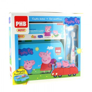 phb pack petit peppa pig gel 75ml cepillo regalo
